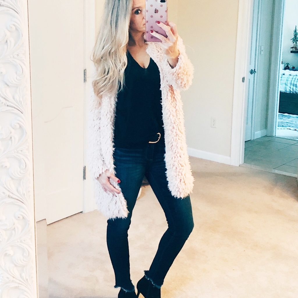 how to lose 10 pounds and love your pants | blush sweater and jeans