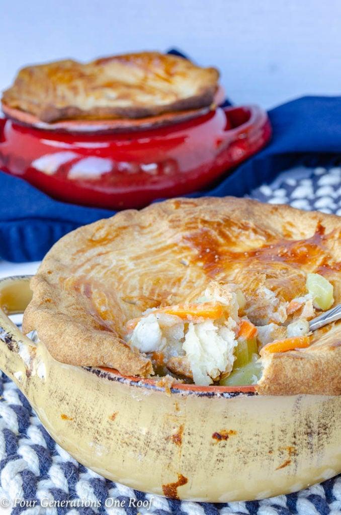 Mom's Weekend light Chicken Pot Pie Recipe Chicken Pot Pie Crock Recipe with Potato, Crust Chicken, Carrots and Celery
