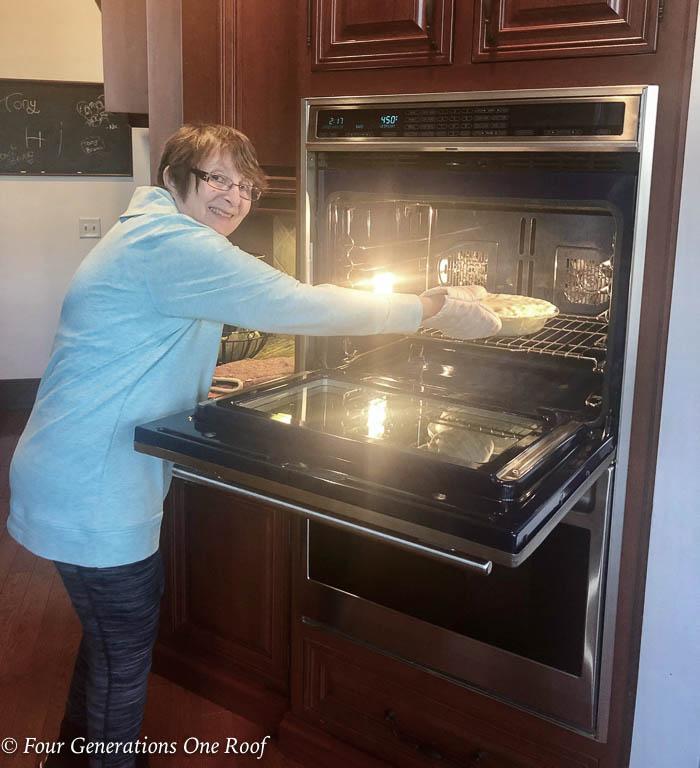 Mom Weekend light Chicken Pot Pie Crock Recipe with Potato, Crust Chicken, Carrots and Celery