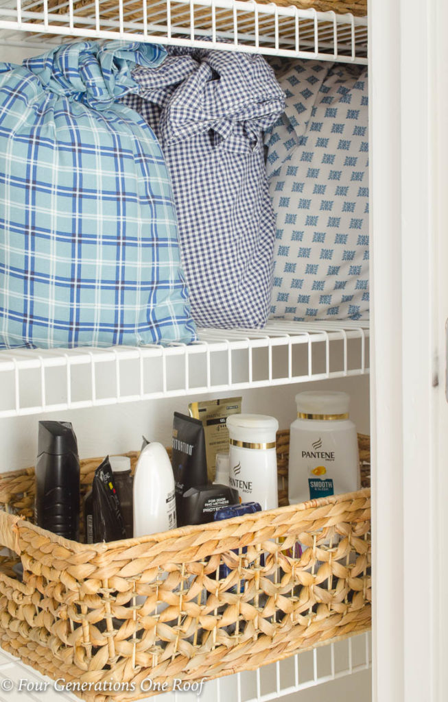 Bed Sheet Organization Store Bed Sheets in a Pillowcase  Linen Closet Organization