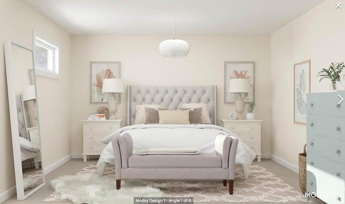 Warm Rustic Bedroom My Bedroom Makeover 3D Floor Plan Design by Modsy