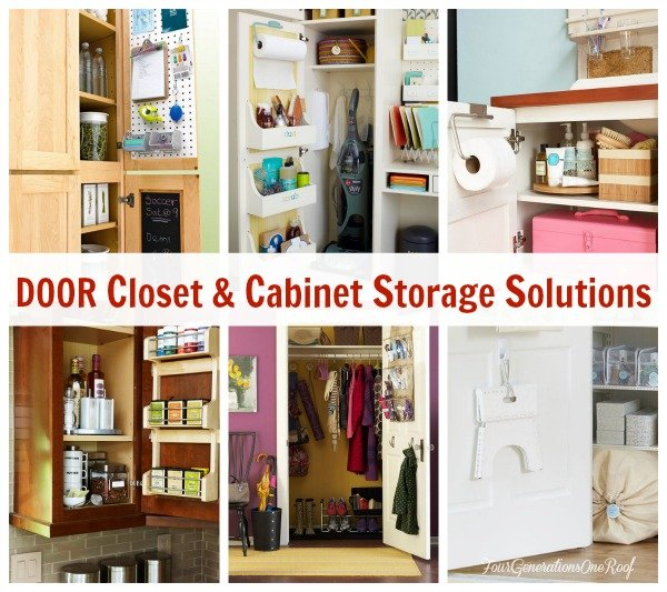 Cabinet Door STorage ideas   Hanging door racks for small cabinet doors  