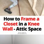 framing a closet in knee wall attic space with 2x4's