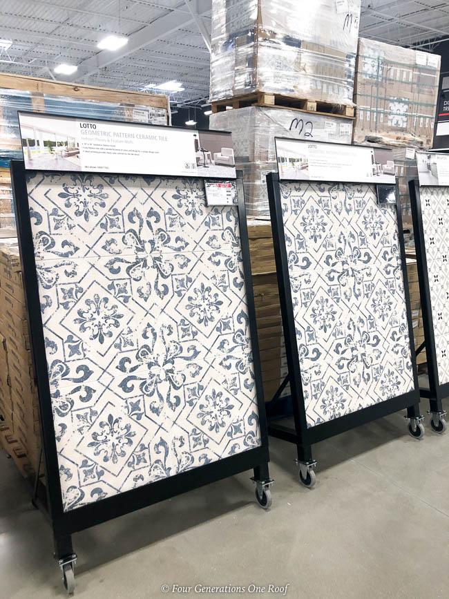 blue geometric tile options tile and flooring shopping tips