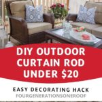 DIY outdoor curtain rod for under $20