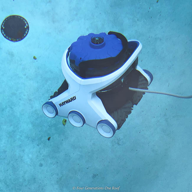 best pool cleaning robot - Hayward AquaVac 6 Series robotic pool cleaner floating to bottom of pool