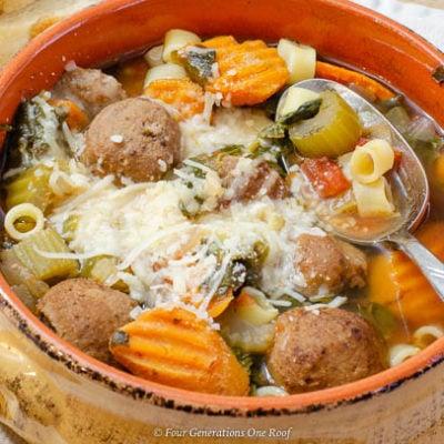Mom's Meatball Stew Crockpot Recipe with Pasta