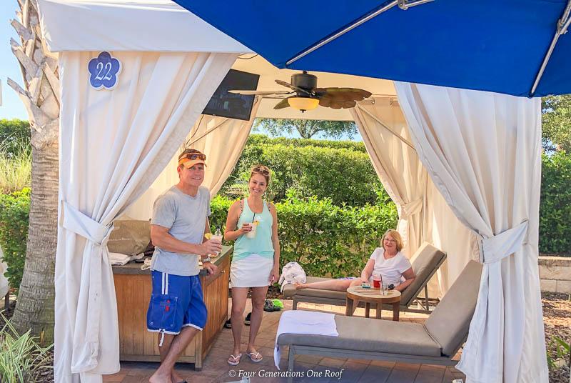 Omni Orlando Resort Cabana Multigenerational Family