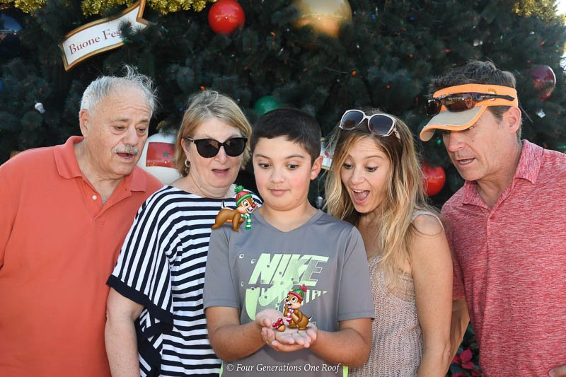 Epcot multigenerational family christmas tree picture