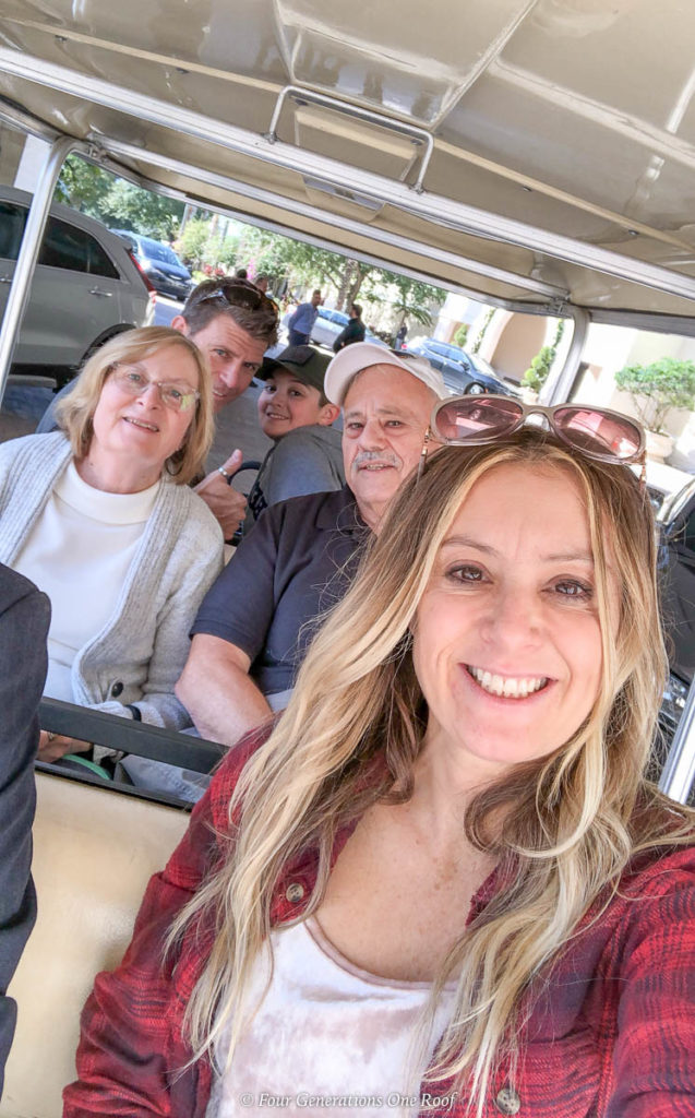 Jessica Bruno and mulitigenerational family on vacation in Orlando