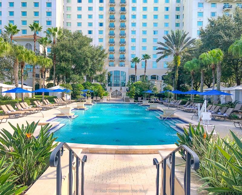 adult pool Omni Orlando Resort Palm Trees