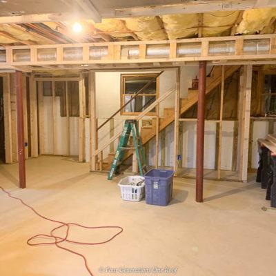 Basement 2×4 Framing Walls and Closet Project {basement remodel}