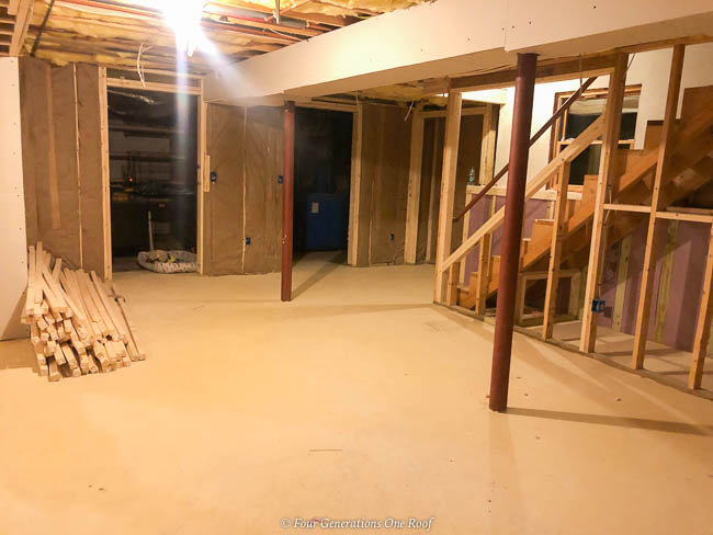 2x4 framed closets in the basement