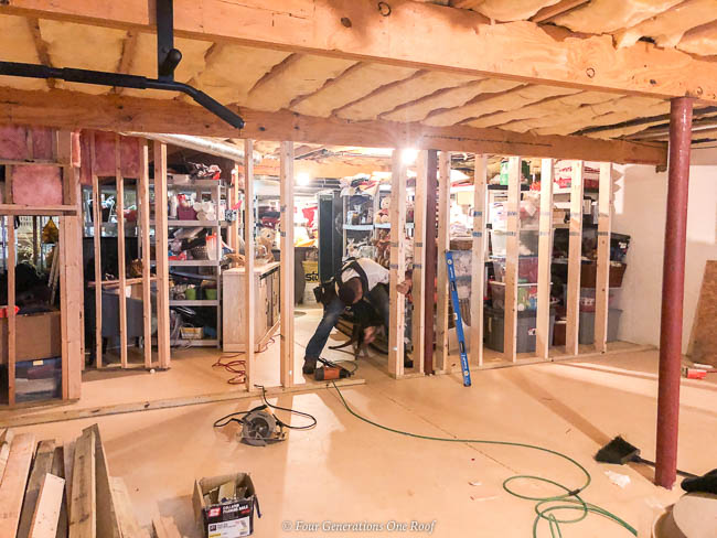 framing divider wall in unfinished basement