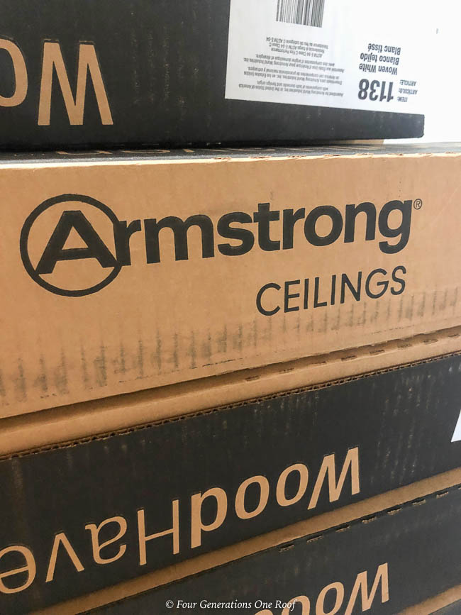 Armstrong white wood plank dropped ceiling-1