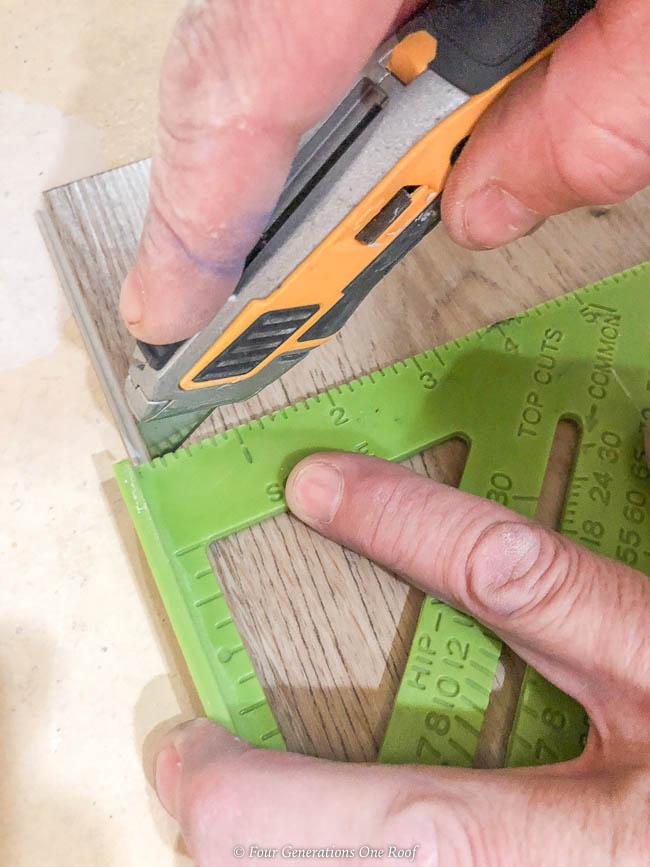utility knife cutting rigid core vinyl flooring