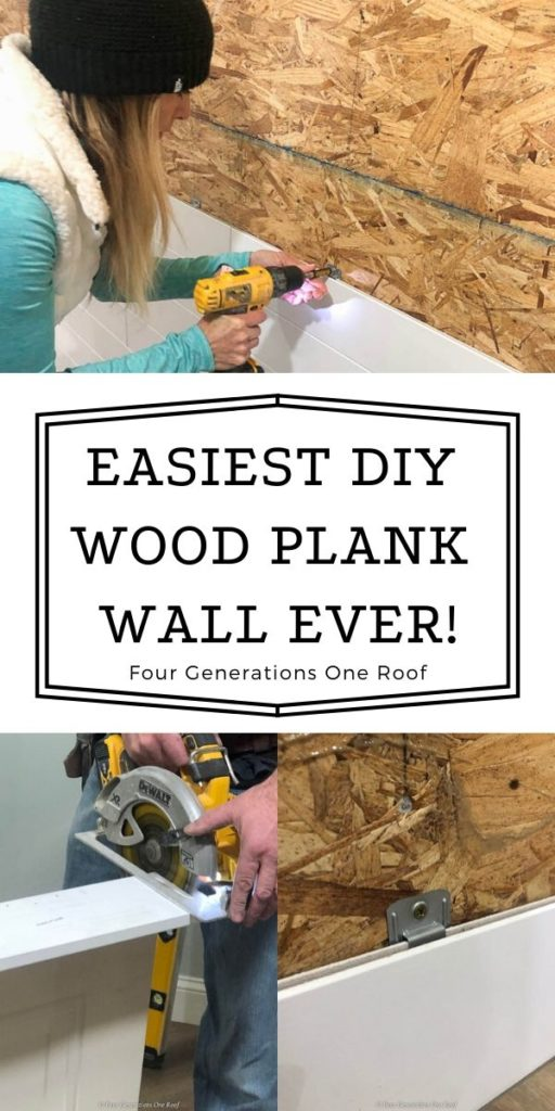 DIY Woodhaven Plank Accent WAll Easy Clips