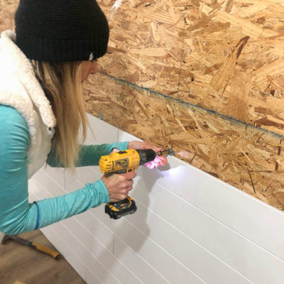 DIY White Wood-Look Plank Wall Project
