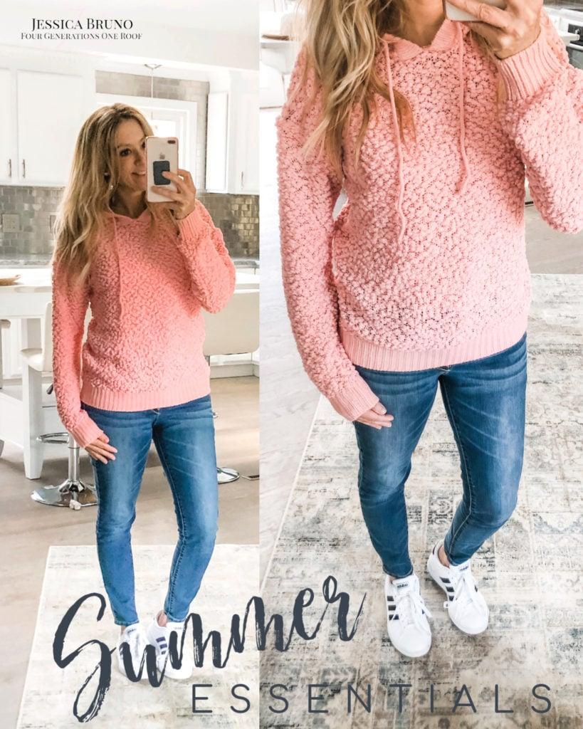 Walmart Pink Popcorn sweater