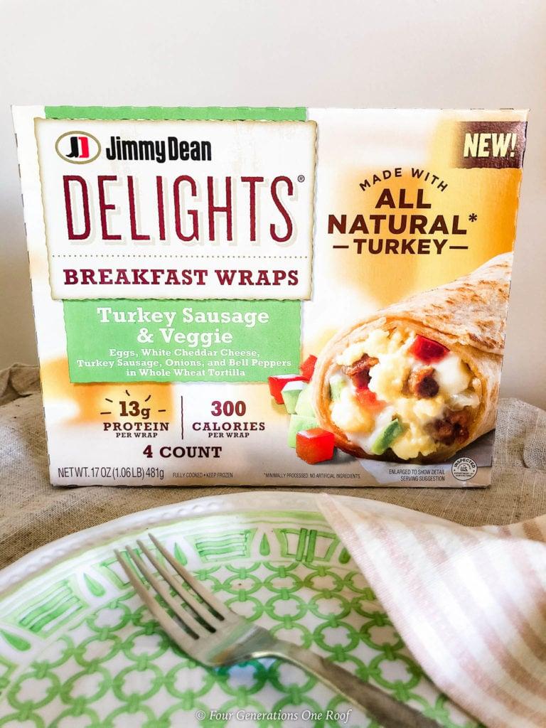Jimmy Dean Delights Turkey Sausage and Veggie Wrap