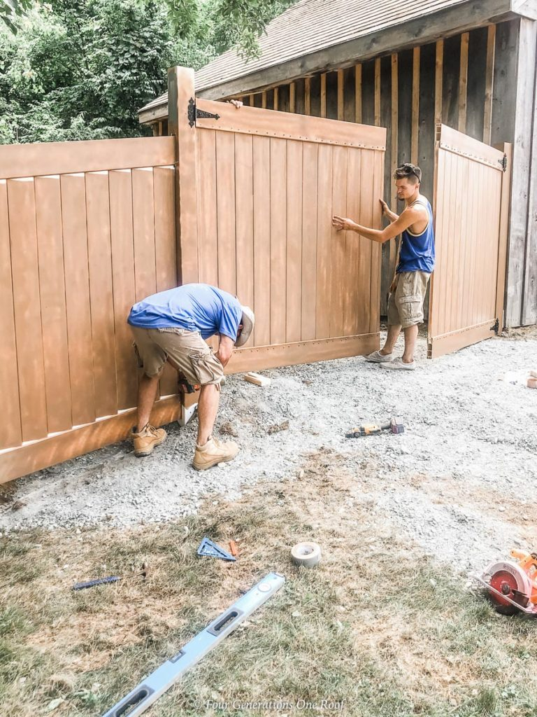 DIY PVC Fence Enclosure to Hide a Dumpster