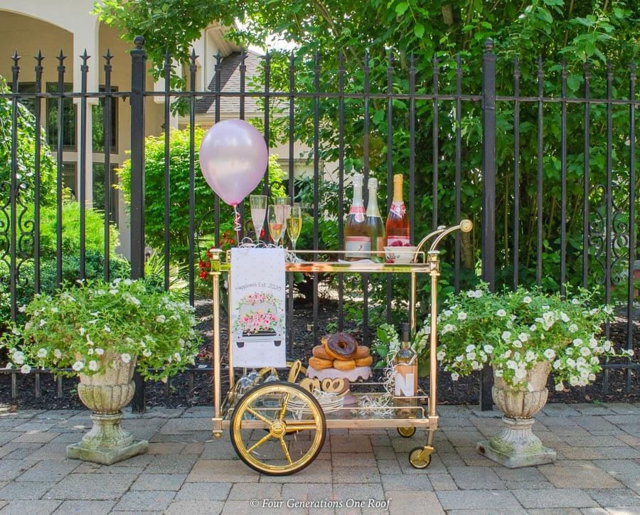 bridal shower bar cart-1