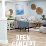 Open Basement Makeover with Floor and Ceiling Planks