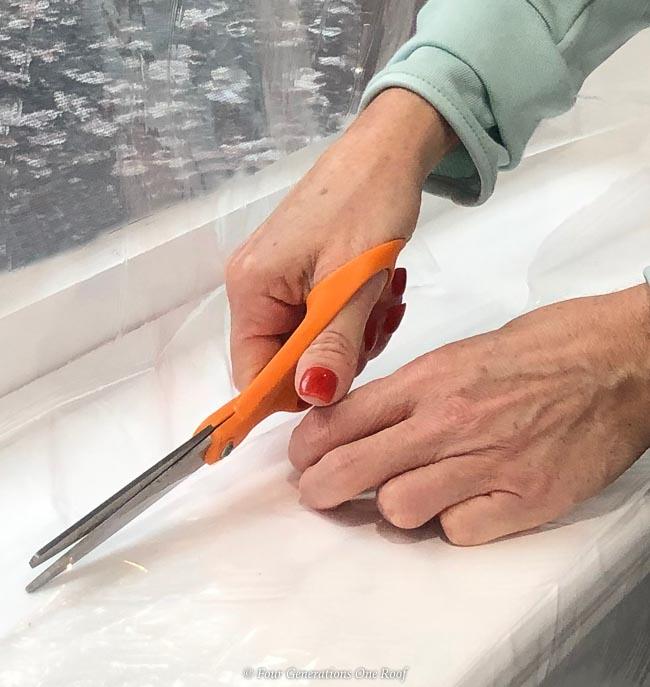 cut with scissors Duck shrink film - window insulation kit