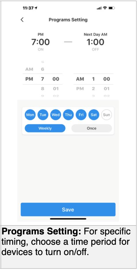 jasco lighting phone app screen