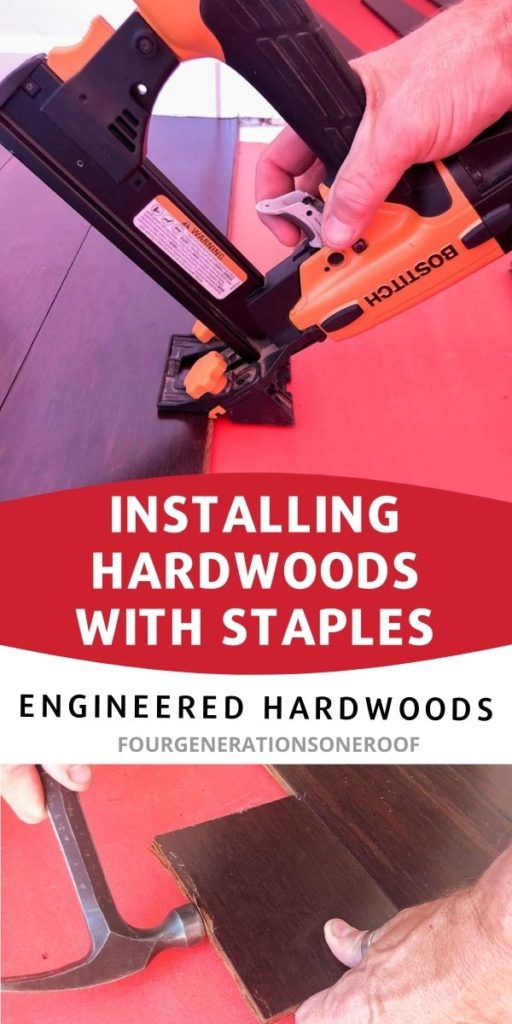 installing hardwoods with staples
