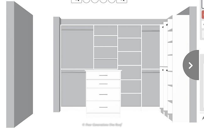 Easyclosets design for dreamy walkin closet