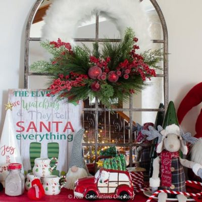 Fun Christmas Station filled with Hot Chocolate Goodies