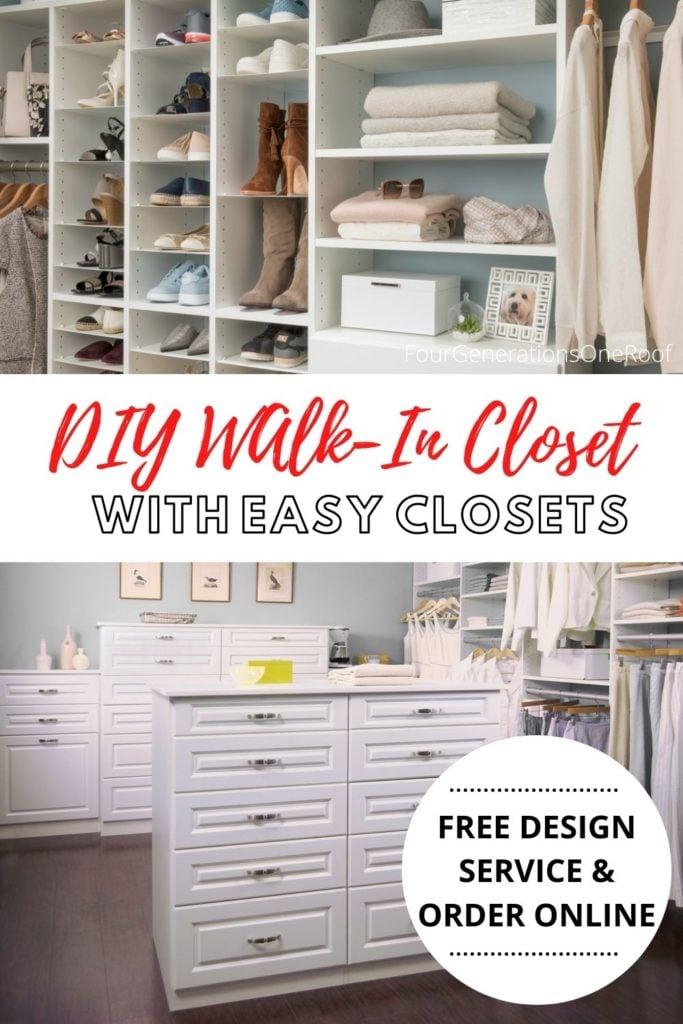 Easy Closet walk in closet design , custom walk in closet island