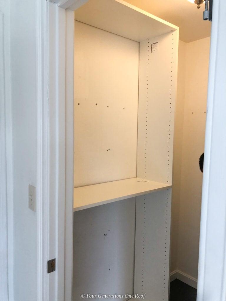 easycloset wood closet system