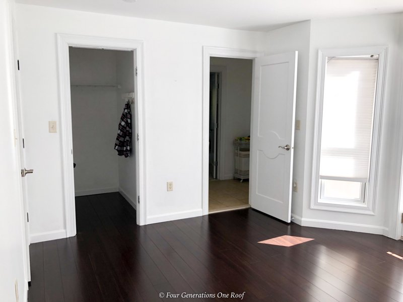 Replacing ugly wire closet shelving with wood shelving system
