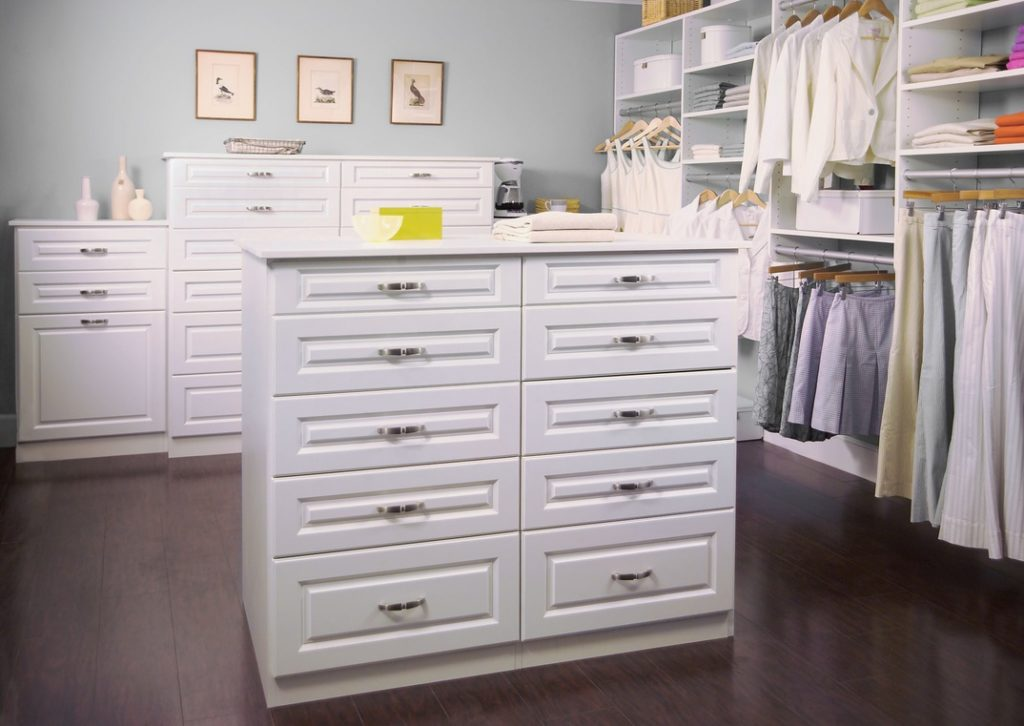 easy closets white diy walk in closet island with drawers