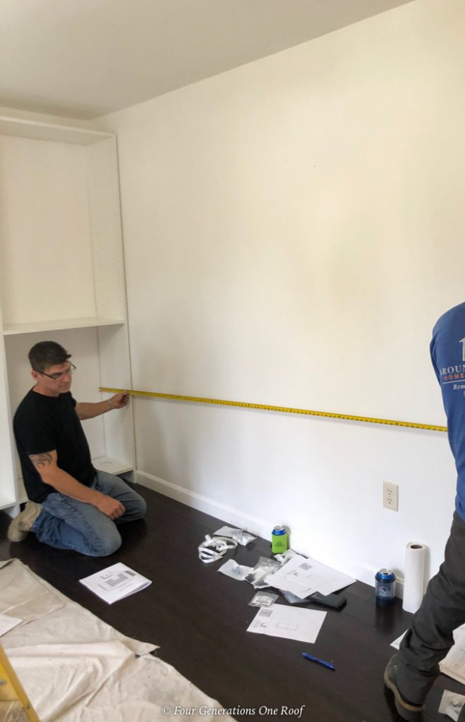 measuring a wall for easyclosets wall system