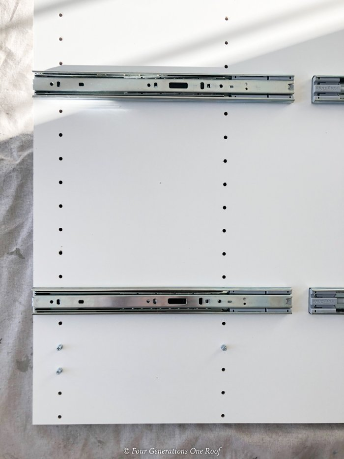 installing drawer glides for closet pull out drawers