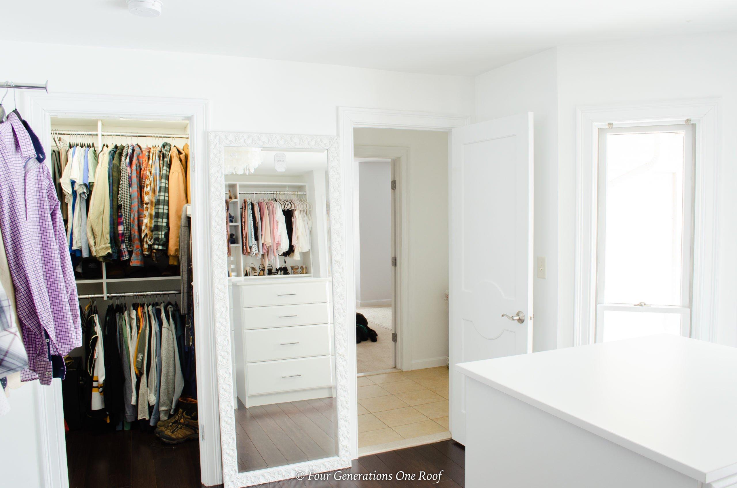 bedroom turned closet