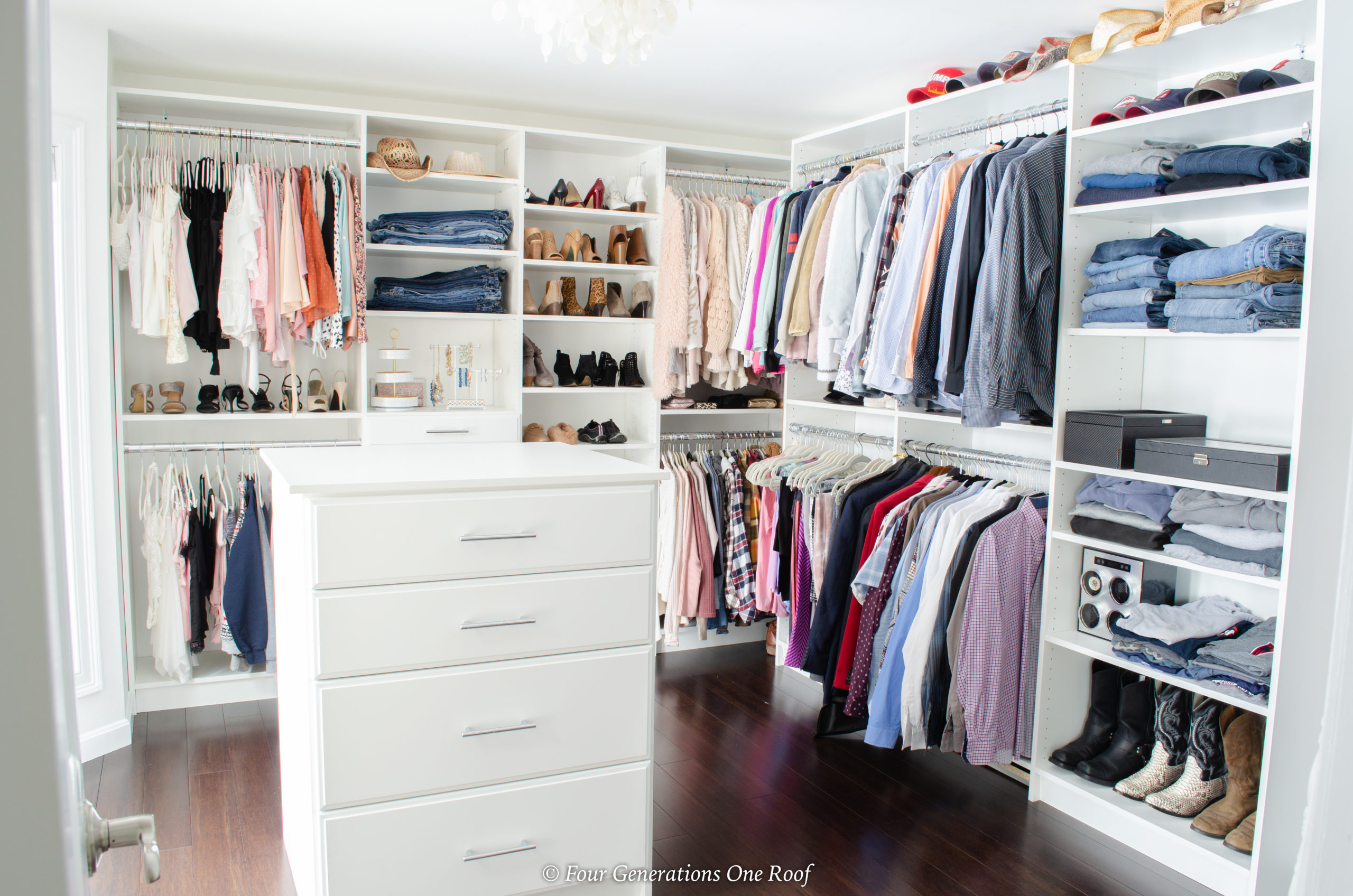 spare bedroom turned closet
