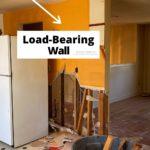 kitchen demo knocking down load bearing wall split level