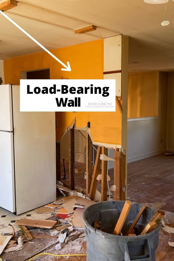 load bearing wall in kitchen demo