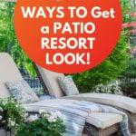 DIY resort backyard patio - how to set up a patio