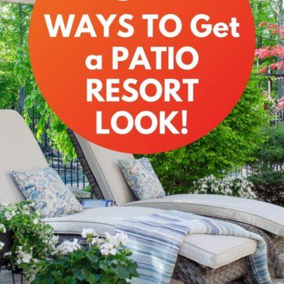 Resort Patio Ideas Easy DIY
