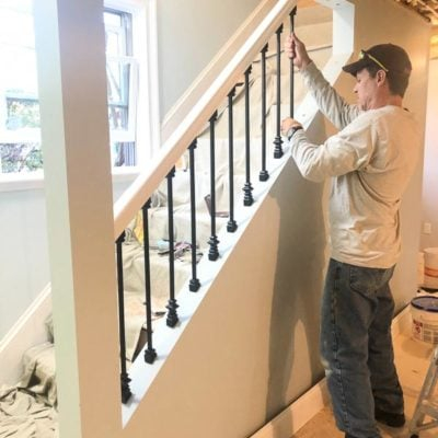 How to Make Iron Balusters Look Expensive for under $2