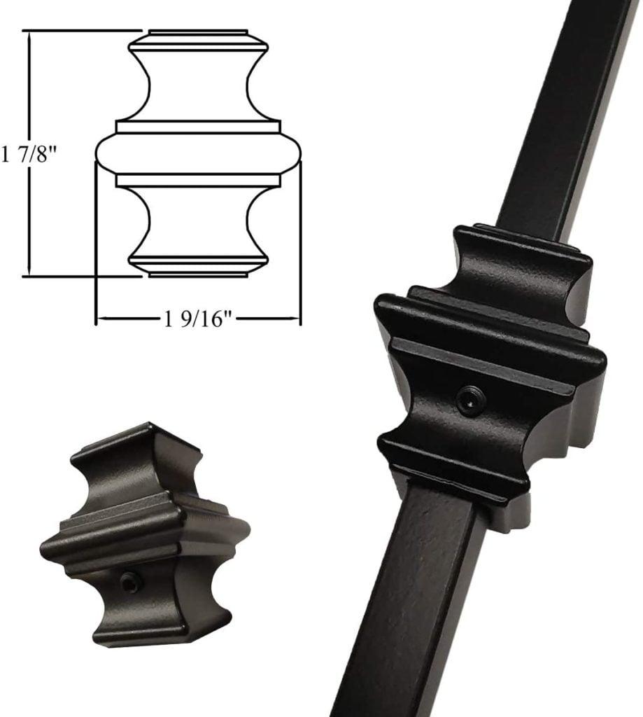 black adjustable baluster knuckle