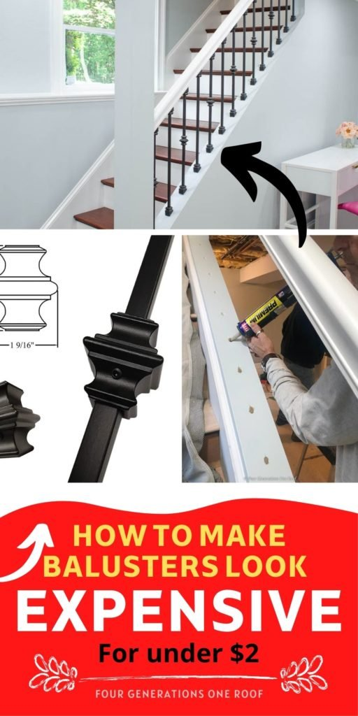 how to make balusters look expensive for under $2
