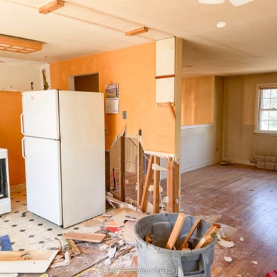 Opening a load bearing wall between kitchen and living room
