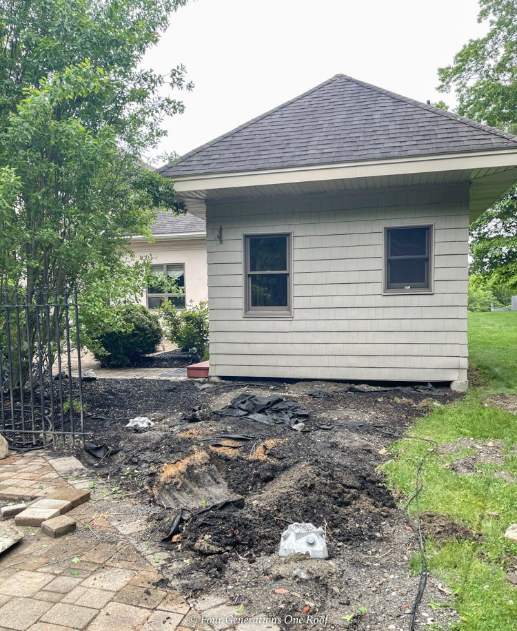 pool house addition with diamond pier footings