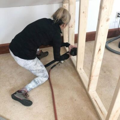 how to frame a closet in knee wall